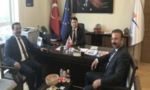 Diyarbakır Büyükşehir Belediye Başkanı Sn. Cumali ATİLLA ve DİSKİ Genel Müdürü Sn. Ahmet KARADAĞ, Başkanımız Sn. İsmail Raci BAYER'i ziyaret etti.