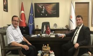 Ankara Yıldırım Beyazıt Üniversitesi İnşaat Mühendisliği Bölüm Başkanı Sayın Prof.Dr. Lutfullah TURANLI, Başkanımız Sn. İsmail Raci BAYER'i ziyaret etti.