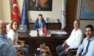Merzifon Belediye Başkan Yardımcısı Sn. Arif GÜRKAN, Başkanımız Sn. İsmail Raci BAYER'i ziyaret etti.