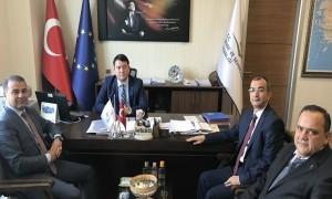 Erciş Kaymakamı ve aynı zamanda Belediye Başkan Vekili Sn. Mehmet Şirin YAŞAR ile Başkan Yardımcısı Sn. Mehmet MARUFOĞLU, Başkanımız Sn. İsmail Raci BAYER'i ziyaret etti.