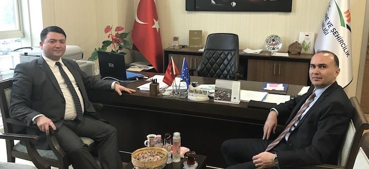 Directorate General of İller Bankası A.Ş., Head of Department of International Relations, Assoc. Prof. Dr. Birol KAYRANLI, Visited Our Director Mr. Ismail Raci BAYER