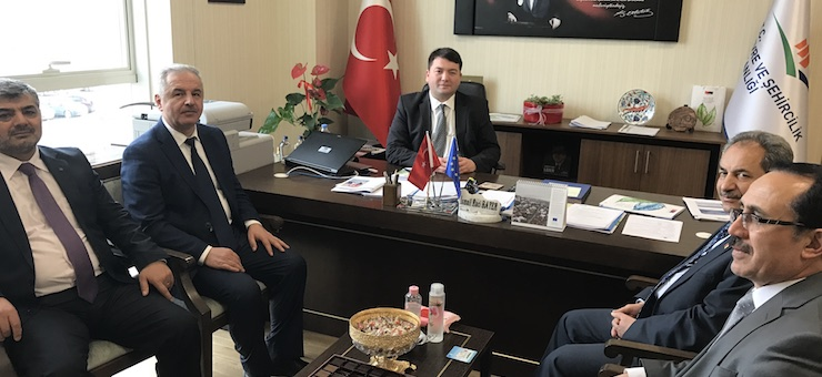 Mayor of Konya Akşehir Dr. Salih AKKAYA and General Manager of KOSKI Mr. Ercan USLU, Assistant General Manager Mr. Ahmet DEMİR and Head of Department Mr. Erol BİRCAN, Visited our Director Mr. İsmail Raci BAYER