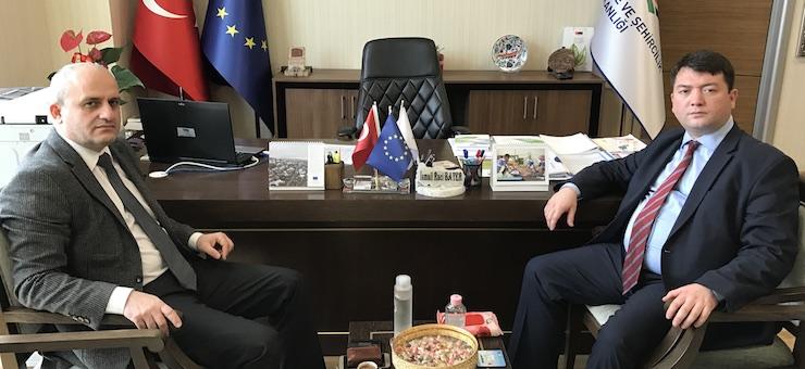TİSKİ Department Head Mr. Nevzat KAMİLOĞLU, Visited Our Director Mr. İsmail Raci BAYER.