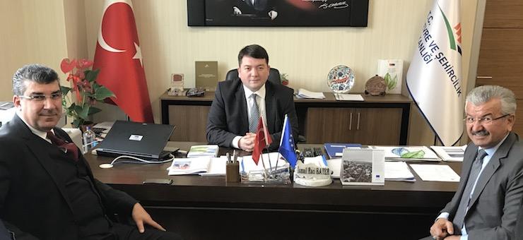 Adana Municipality Deputy Secretary General, Mr. Mehmet ŞAHİN, and Head of Department Mr. Mehmet Çelebi AKKUŞ, Visited Our Director Mr. İsmail Raci BAYER.