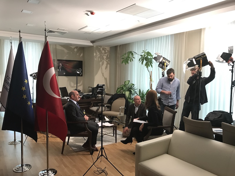 Interviews on the activities of our Department with Deputy Undersecretary of the Program Authority Mr. Mücahit DEMİRTAŞ and with our Director Mr. İsmail Raci BAYER were held.