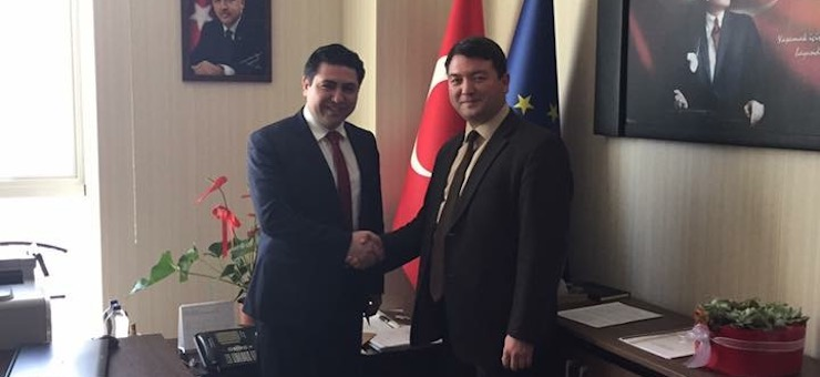 Counsellor to our Minister, Assistant Professor Dr. Zülfikar BAYRAKTAR, visited Our Director Mr. İsmail Raci BAYER.