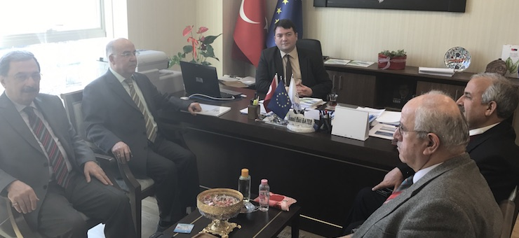 Counselors of Our Ministry's Project Evaluation Group visited Our Director Mr. İsmail Raci BAYER.