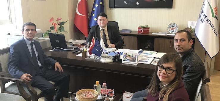 Director of KASMİB Mr. Adnan TOT visited our Director Mr. İsmail Raci BAYER.