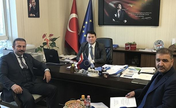 DİSKİ General Manager Mr. Ahmet KARADAĞ visited our director Mr. İsmail Raci BAYER.