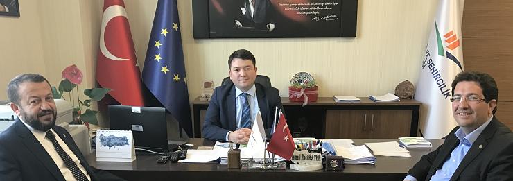 Parliamentarian of Aksaray Asst. Prof. Mr. Mustafa SERDENGEÇTİ and Mayor of Aksaray Mr. Haluk YAZGI visited our  Director Mr. İsmail Raci BAYER.