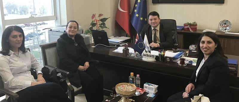Assoc. Prof. Dr. Filiz DADAŞER ÇELİK, Assoc. Prof. Dr. Nuray ATEŞ and Assoc. Prof. Dr. Nimet VAROLAN UZAL, visited our director Mr. İsmail Raci BAYER.