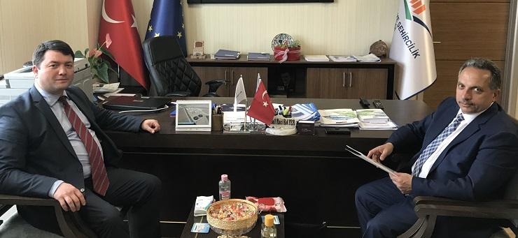 The General Secretary of Van Metropolitan Municipality Mr. Mustafa YALÇIN visited our Director Mr. İsmail Raci BAYER.