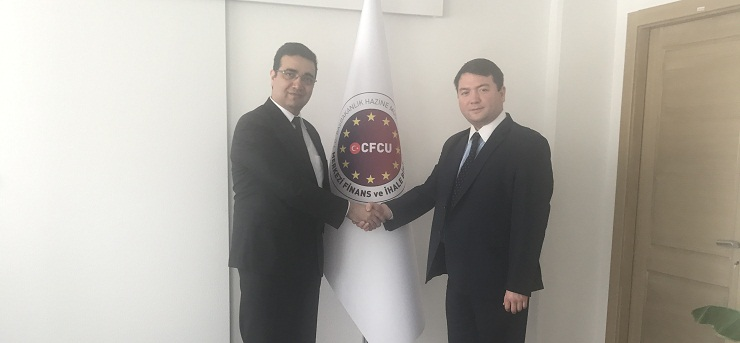 Our Director Mr. İsmail Raci BAYER, visited the Director of Central Finance and Contracting Unit (cfcu) Mr. Mehmet Selim USLU  to congratulate him for his new position.