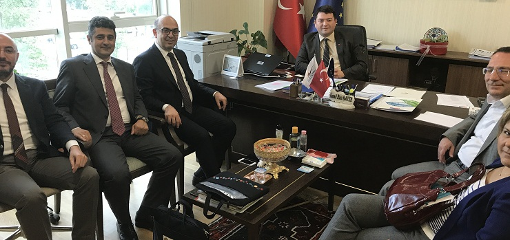 The Head of Istanbul Project Coordination Unit (IPCU) Mr. Kazım Gökhan ELGİN and his accompanying delegation visited our Director Mr. İsmail Raci BAYER.