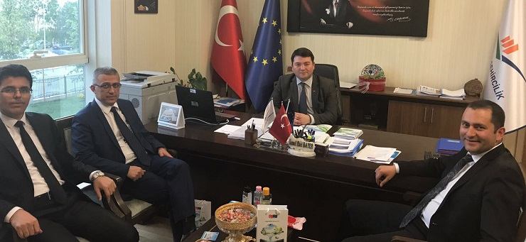 Counterparts from Transport, Labor and Industry Ministries visited our Director Mr. İsmail Raci BAYER.