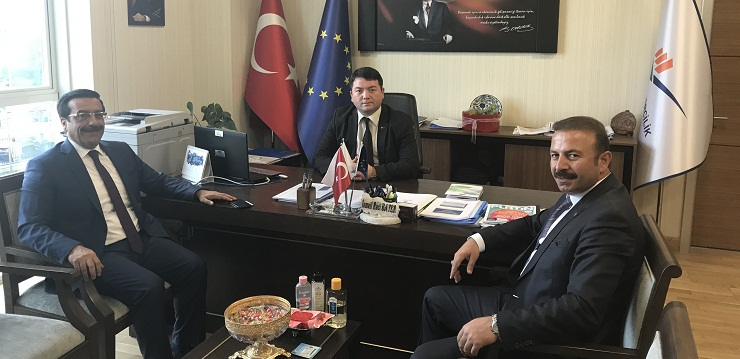 Mayor of Diyarbakır Metropolitan Municipality Mr. Cumali ATİLLA and General Manager of Diyarbakır Water and Sewerage Administration  Mr. Ahmet KARADAĞ, visited our Director Mr. İsmail Raci BAYER.