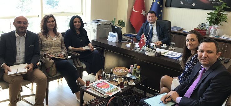 The World Bank's Turkey Director of Infrastructure Mrs. Tamara SULUKHIA and the accompanying technical committee, visited our Director Mr. İsmail Raci BAYER.