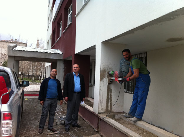İl müdürlüğümüz hizmet binası ve lojmanlarından karot numumesi alındı