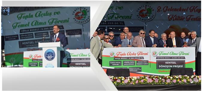 Bakan Özhaseki Kentsel Dönüşüm Temel Atma Törenine Katıldı