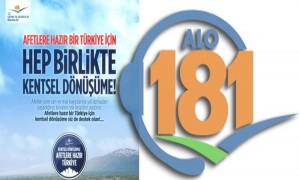 ALO 181'E KENTSEL DÖNÜŞÜM İLGİSİ
