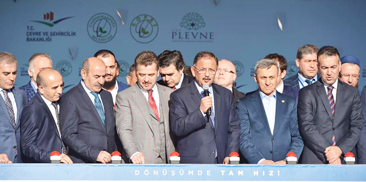 GOP Plevne İstanbul Kentsel Dönüşüm Projesi 1. Etap`ın Temeli Atıldı