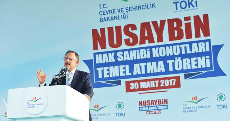 Nusaybin'de Hak Sahibi Konutlarının Temel Atma Töreni Gerçekleşti