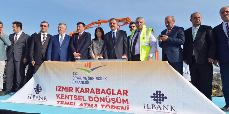 İzmir Karabağlar'da Kentsel Dönüşüm Projesi'nin Temelleri Atıldı.