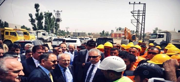 Sayın Bakanımız Mehmet ÖZHASEKİ ve Genel Müdürümüz Hakkari'de