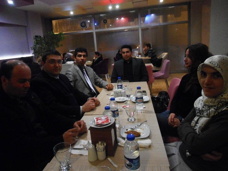 Arkadaşımız İlknur GENÇ için veda yemeği düzenlendi.