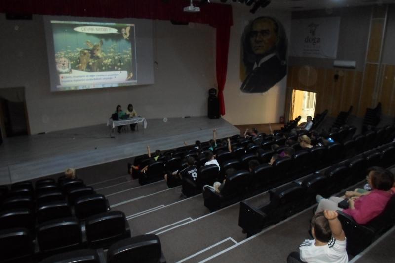 Ahmet Şerife Şanlı Ortaokulu, Özel Doğa Koleji, Özel TED Ege Koleji ve Özel Bahçeşehir Kolejinde Temel Çevre Bilinci Konulu Eğitim Çalışması Gerçekleştirilmiştir.