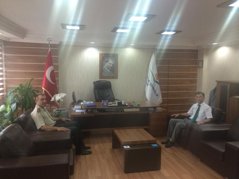 İl Jandarma Alay Komutanından Ziyaret