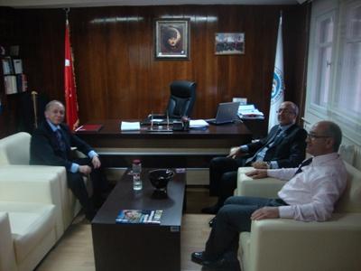 İl Özel İdaresi İmar Müdürü Osman Çetin Müdürümüzü Ziyarete geldi