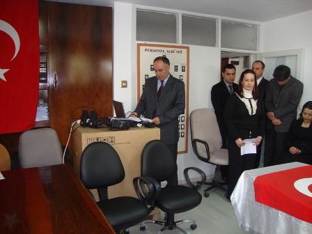 Müsteşar Yardımcısı Sayın Münir BüyükSalih ile İdari ve Mali İşler Daire Başkanı Sayın Mehmet Özkan Müdürlüğümüzü Ziyaret Etti.