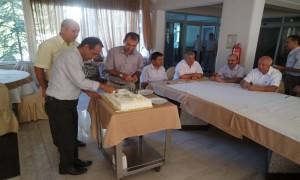 İl Müdürlüğümüz personeli Sedat BOZKURT'un Doğum Günü Müdürlüğümüz sosyal tesislerinde personelin katılımıyla kutlanmıştır.