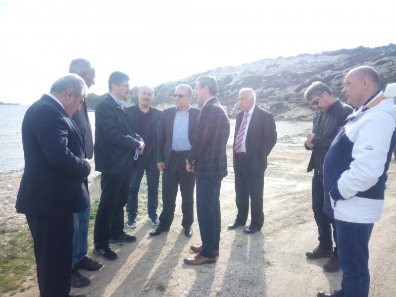 Tabiat Varlıklarını Koruma Genel Müdürü Sayın Kemalettin Cengiz TEKİNSOY Bozcaada'da