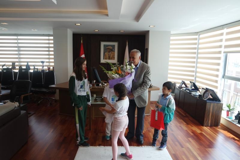 5 Haziran Dünya Çevre Günü ve Haftası Kapsamında Çanakkale Belediye Başkanı Ülgür GÖKHAN Ziyaret Edildi.