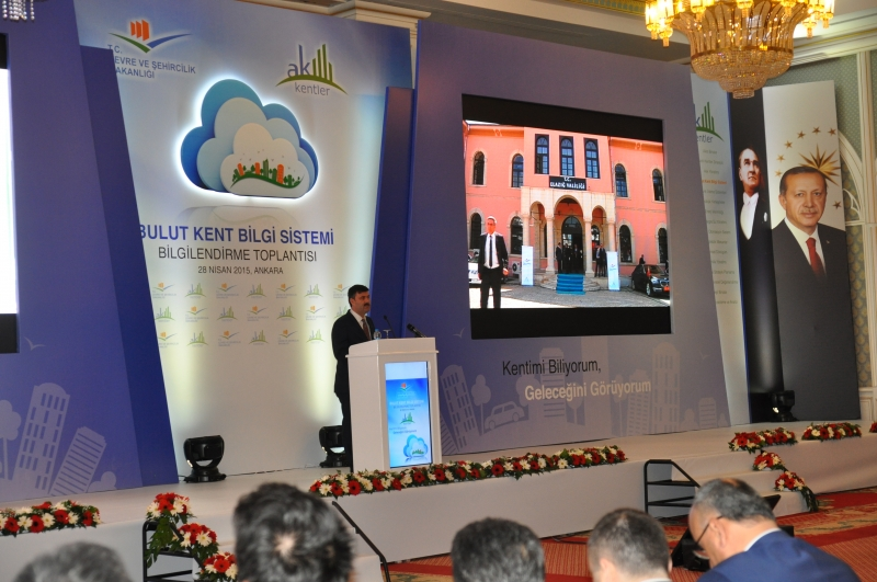 Smart Cities- Cloud Urban Information System introduced with the participation of Minister of Enviroment and Urbanisation Mr. İdris GÜLLÜCE