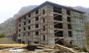 Erzincan Kemaliye İlçesi Yarım Kalan Yurt Bloğu Yapımı (200 kişilik yurt)