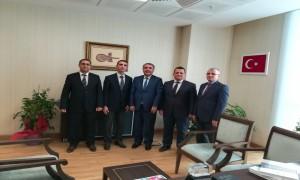 Çevre ve Şehircilik Bakanlığı İç Denetim Birimi Başkanlığına atanan Ahmet SANDAL'a hayırlı olsun ziyaretleri.