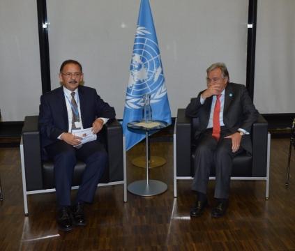 BM Genel Sekreteri Guterres'ten Bakan Özhaseki'ye Almanya'da Sıcak Karşılama