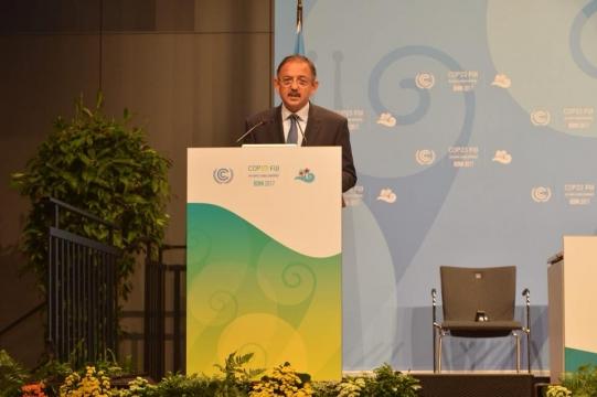 Bakan Özhaseki COP23'te Üst Düzey Oturumda Konuştu;