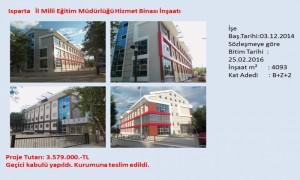 Isparta   İl Milli Eğitim Müdürlüğü Hizmet Binası İnşaatı