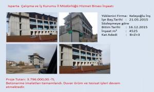 Isparta  Çalışma ve İş Kurumu İl Müdürlüğü Hizmet Binası İnşaatı