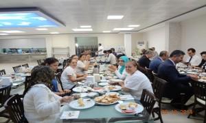 Müdürlüğümüzde çalışan hizmet alımı personeline bayram öncesinde Bayram Kahvaltısı