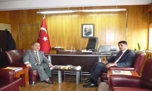 Azerbaycan Başkonsolosu Sayın Ayhan SÜLEYMANOV İl Müdürümüz Sayın Ömer BOLAT'ı Ziyaret ettiler;