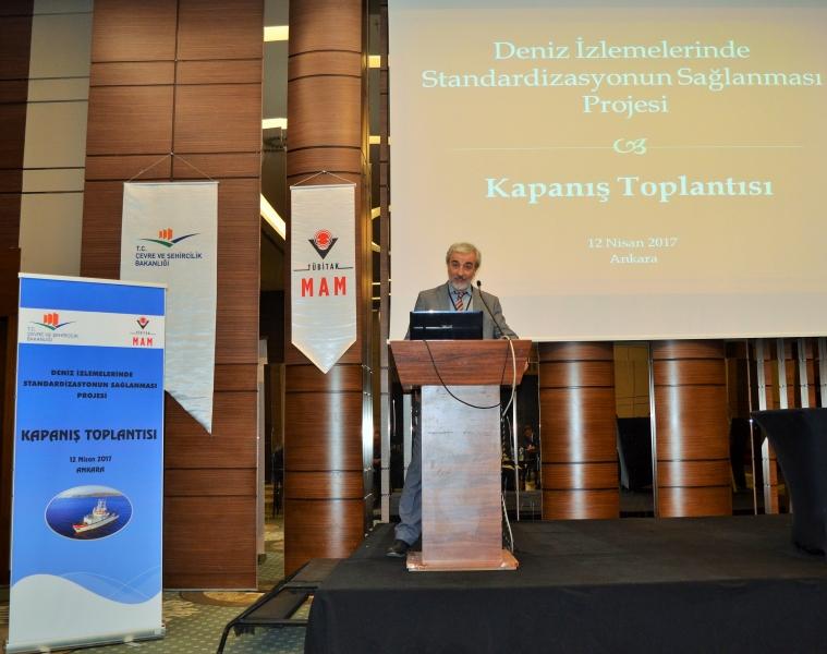 Deniz İzlemelerde Standardizasyonun Sağlanması Projesi Kapanış Toplantısı Yapıldı.