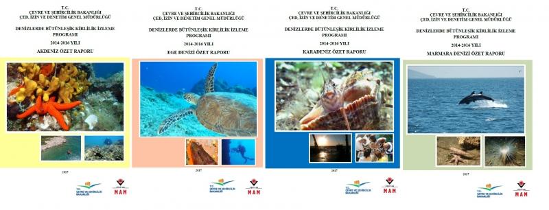 """""""Denizlerde Bütünleşik Kirlilik İzleme Programı 2014-2016 Yılı Akdeniz, Ege Denizi, Marmara Denizi ve Karadeniz Özet Raporları"""