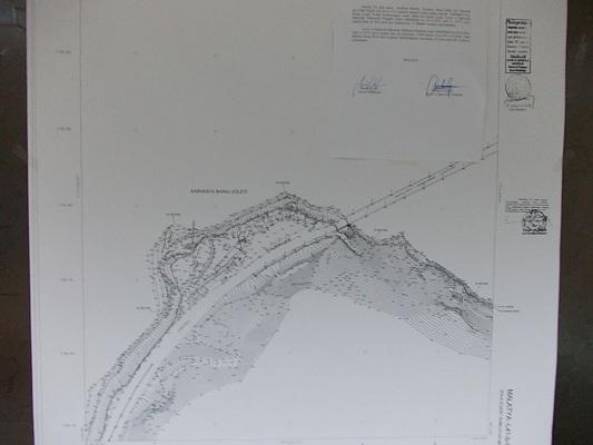 Karakaya Baraj Göleti kıyı kesimine ait kıyı kenar çizgisi
