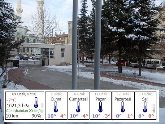 Malatyada soğuk hava koşulları