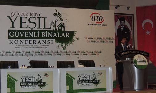 Yeşil ve Güvenli Binalar Konferansına Sn.Genel Müdürümüz Selami MERDİN katılım sağlamıştır.